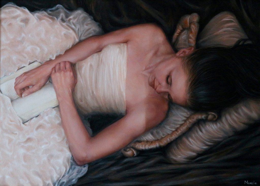 L'attesa - Olio su tela, 2015, 50x70 cm.