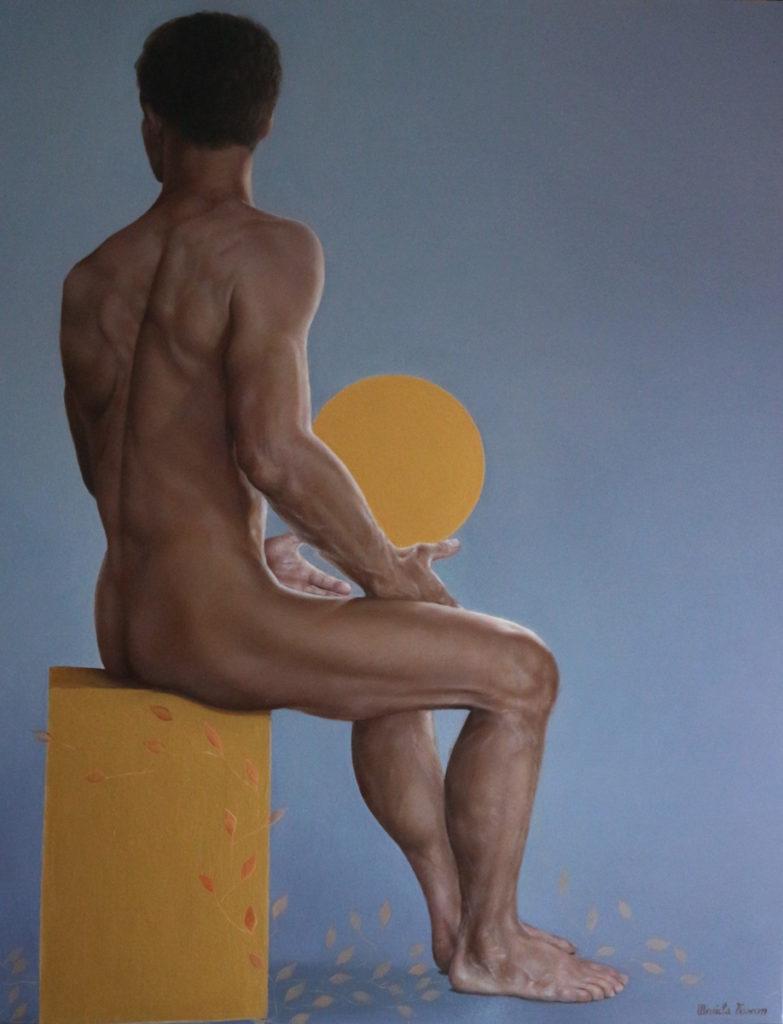 Risveglio - Olio e acrilico su tela, 2018, 70 x 90 cm.