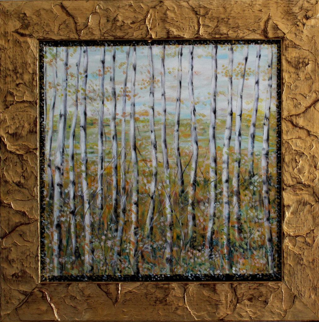 Attraverso - Acrilico su tela, 2013, 40x40 cm.
