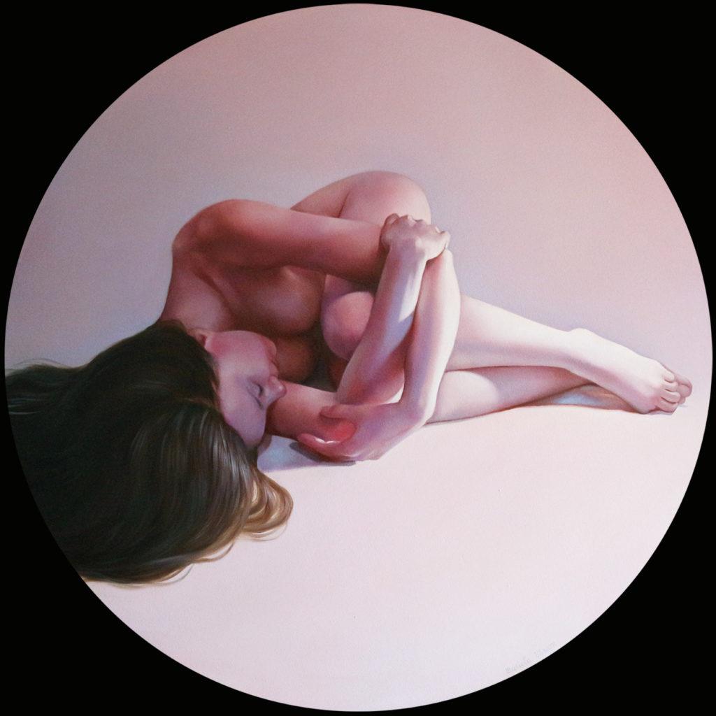 Nodo - Olio su tela, 2020, d. 60 cm.