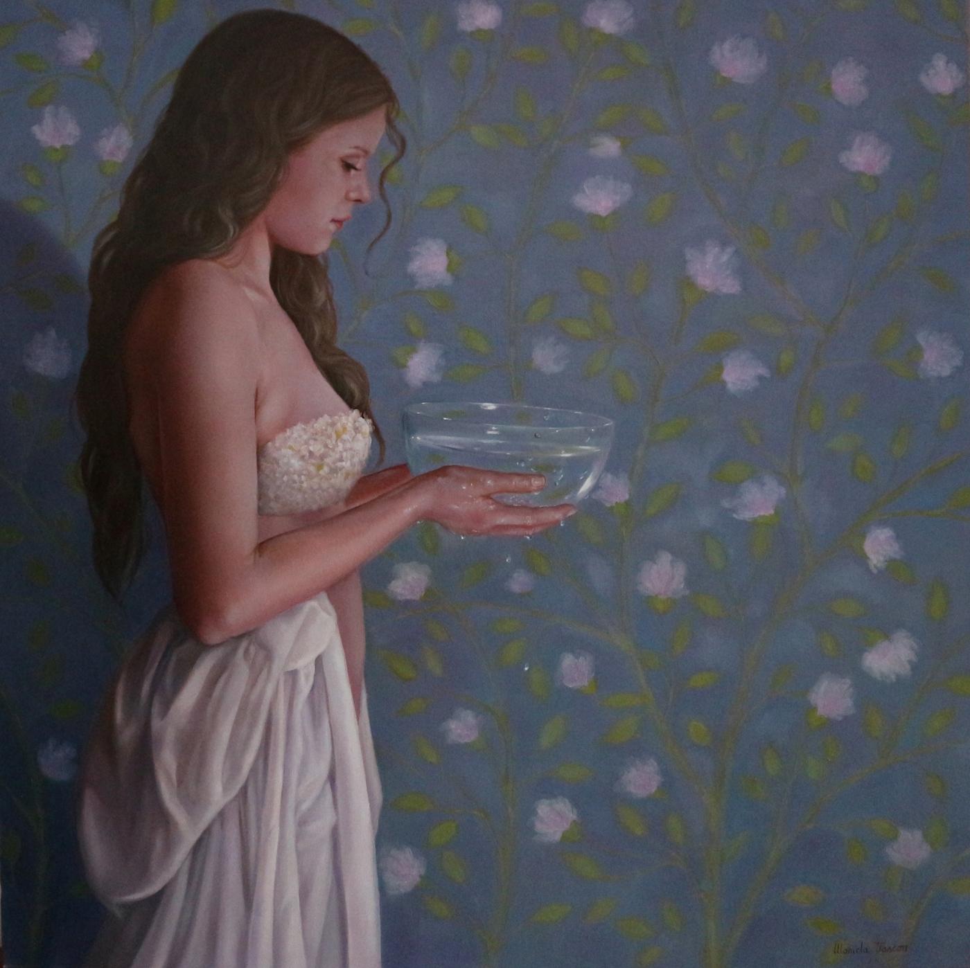 La fonte - Olio su tela, 2020, 50 x 50 cm.